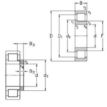 Rodamiento NJ332-E-MA6+HJ332-E NKE