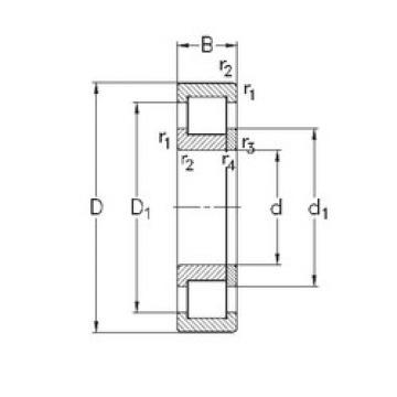 Rodamiento NUP324-E-MA6 NKE