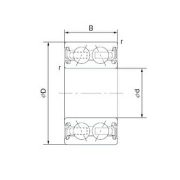 Rodamiento ACB40X62X20.625 SNR