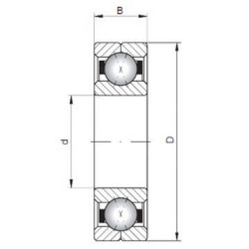 Rodamiento Q208 ISO