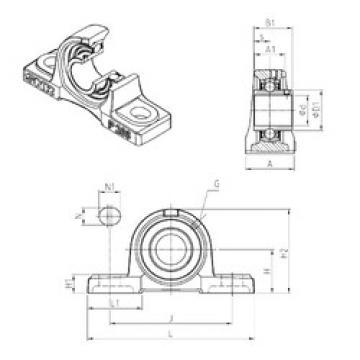 Rodamiento UCP307 SNR