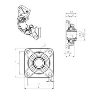 Rodamiento UKF311H SNR