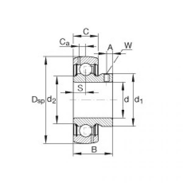 Rodamiento GAY104-NPP-B-AS2/V INA #1 image