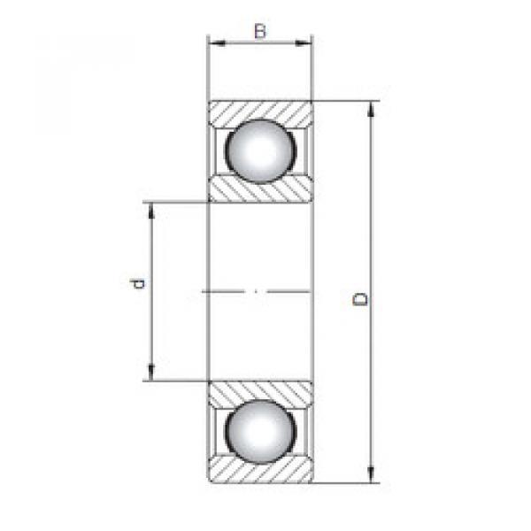 Rodamiento 61844 ISO #1 image
