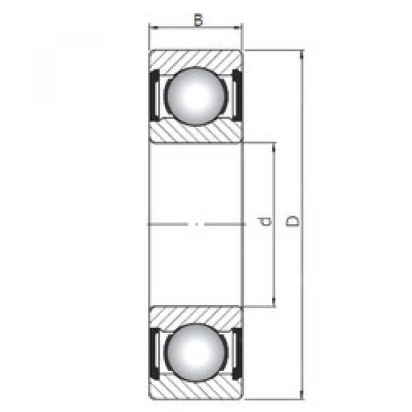 Rodamiento 61838 ZZ ISO #1 image