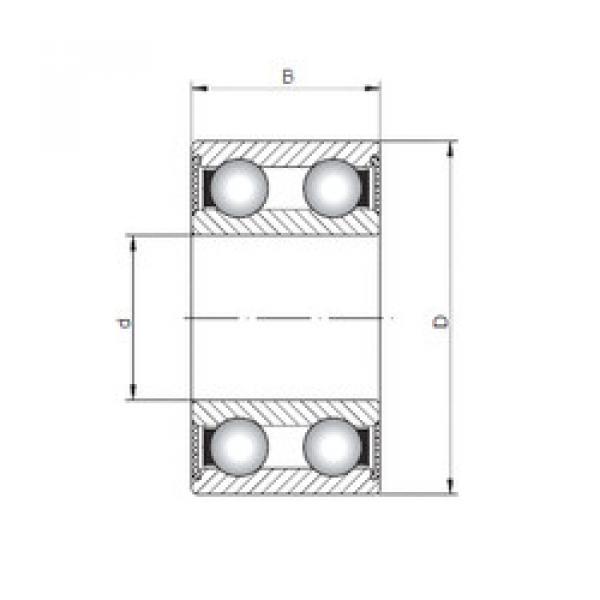 Rodamiento 4206-2RS ISO #1 image