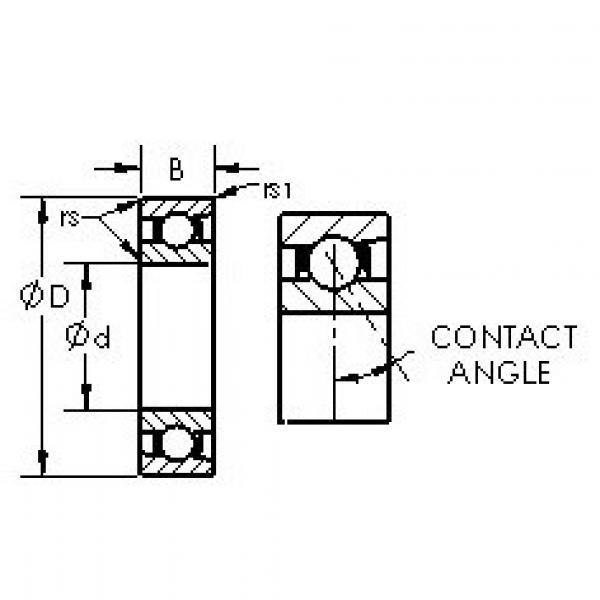 Rodamiento 7044AC AST #1 image