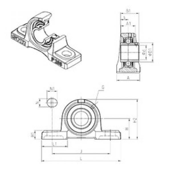 Rodamiento UCP307 SNR #1 image