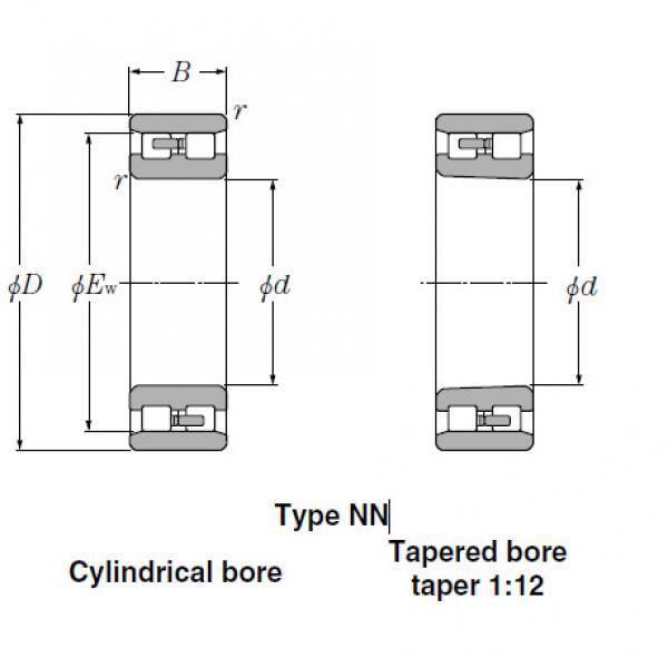 Bearings Cylindrical Roller Bearings NN3140 #1 image