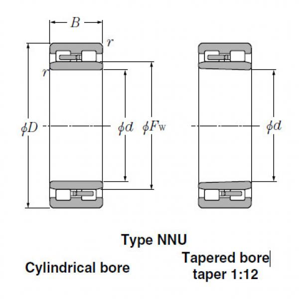Bearings Cylindrical Roller Bearings NN3140 #2 image