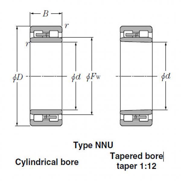 Bearings Cylindrical Roller Bearings NN3148 #2 image