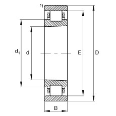Rodamiento N1910-K-M1-SP FAG