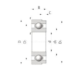 Rodamiento 3TM-SX06C62CS44 NTN