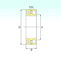 Rodamiento NN 3012 KTN/SP ISB