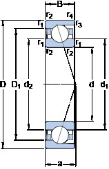 Rodamiento 71815 ACD/P4 SKF