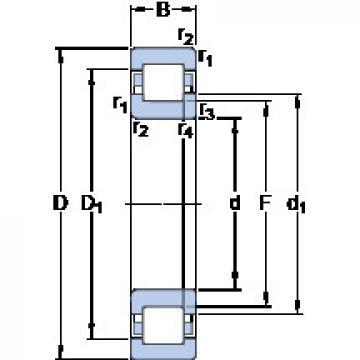 Rodamiento NUP 322 ECP SKF