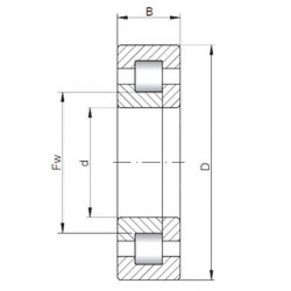 Rodamiento NUP2208 ISO #1 image